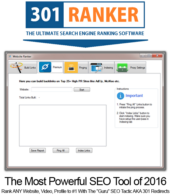 301 Ranker Pro Direct Download Powerful Link Building Tool