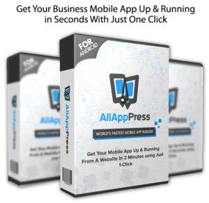 All App Press LIFETIME ACCESS Mobile APP Builder