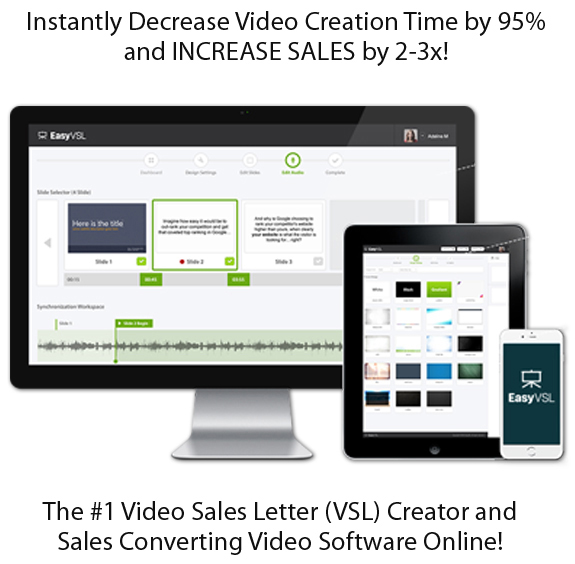 Easy VSL 2.0 Software FULL ACCESS & Create Your own Video Sales Letter
