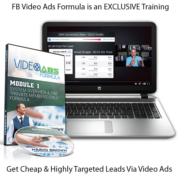 FB Video ADS Formula Mario Brown LIFETIME ACCESS
