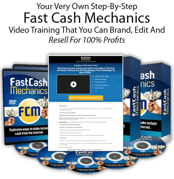 Fast Cash Mechanics PLR Full License Instant DOWNLOAD