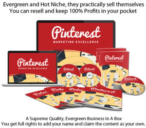 Pinterest Marketing Excellence PLR Package DIRECT Download