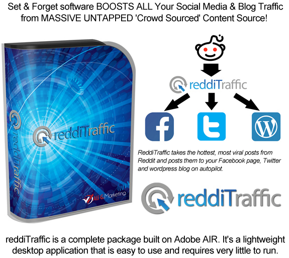 ReddiTraffic Software Lifetime Access! Unlimited