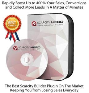 Scarcity Hero WP Plugin Countdown Timer Plugin INSTANT Download!