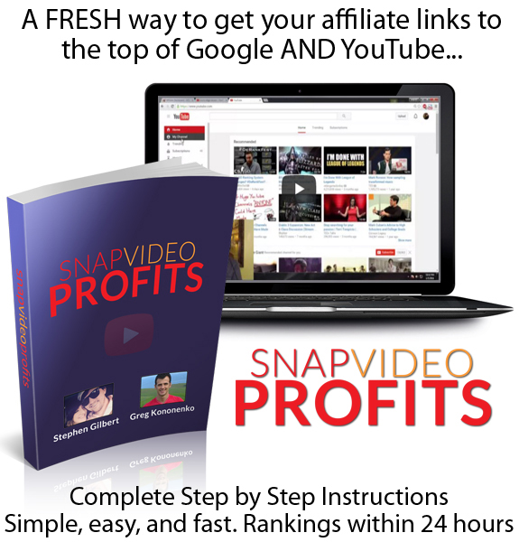Snap Video Profits COMPLETE Training INSTANT DOWNLOAD