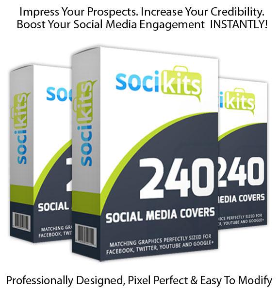 SociKits INSTANT DOWNLOAD Matching Social Media Cover