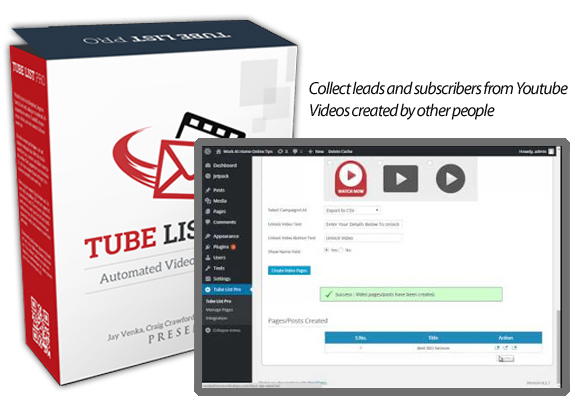Tube List Pro WP Plugin NULLED 100% Working INSTANT Download