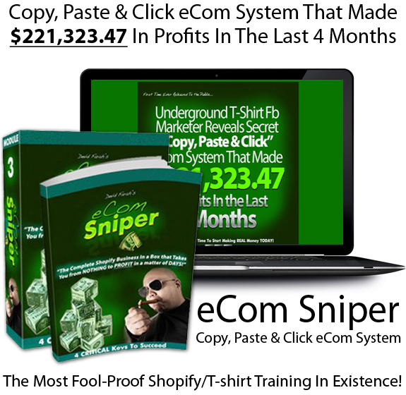 eCom Sniper By Devid Farah LIFETIME ACCESS!! All Module