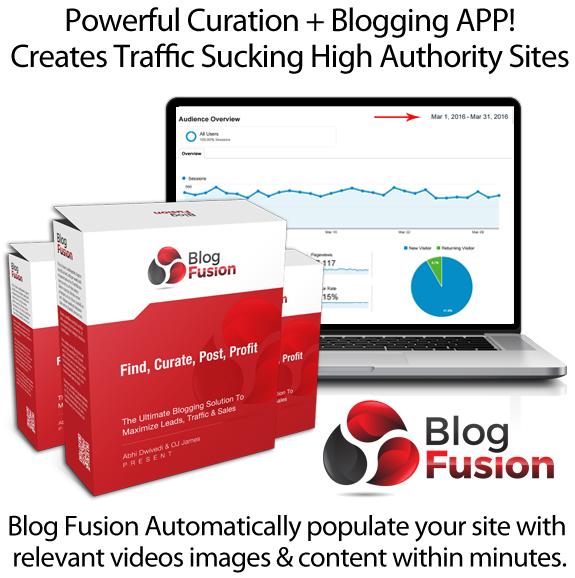 BlogFusion Get 100% Unique Content In Seconds By OJ James
