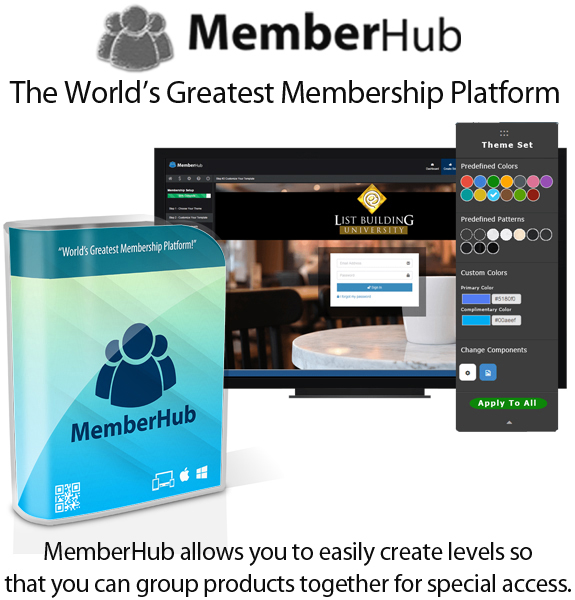 MemberHub Pro Licence Lifetime Access By Chad Nicely