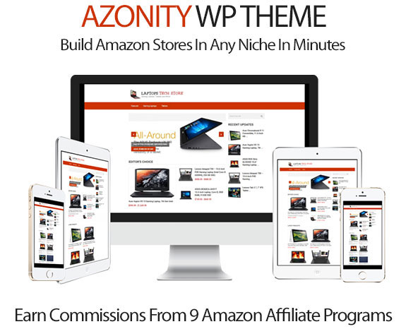 Azonity Wordpress Theme Create Impressive Amazon Site In 5 Minutes ...