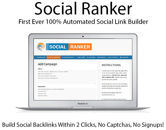Instant Download Social Ranker Software Unlimited By Abdul Hannan