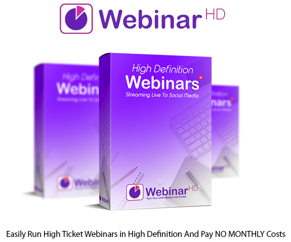 WebinarHD Software Instant Access Pro License NO MONTHLY Costs