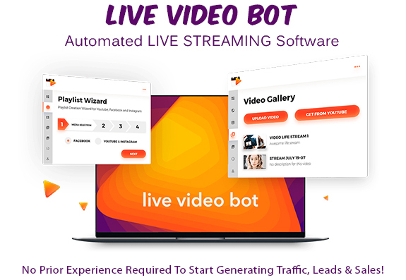 Live Video Bot Software Instant Download Commercial Rights
