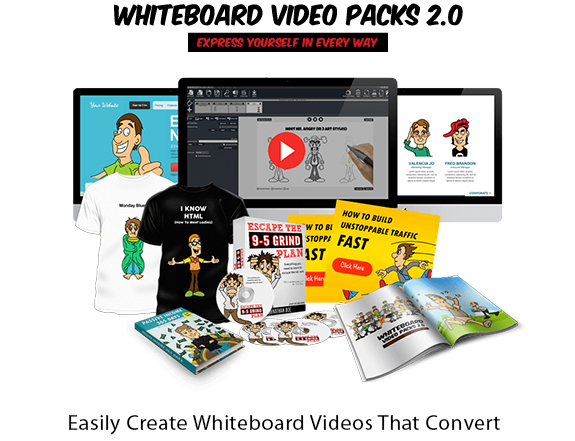Whiteboard Video Packs 2.0 Software Instant Download By Kaytie Lee