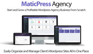 MaticPress Agency Software Pro License Instant Download By Ben Murray