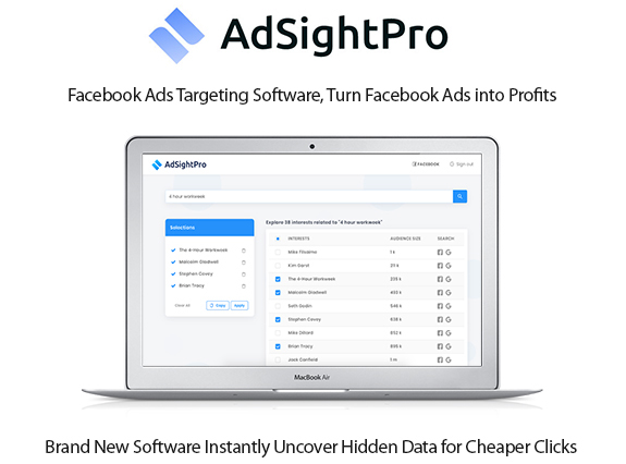 AdSight Pro Software Instant Download Commercial By Sam Bakker